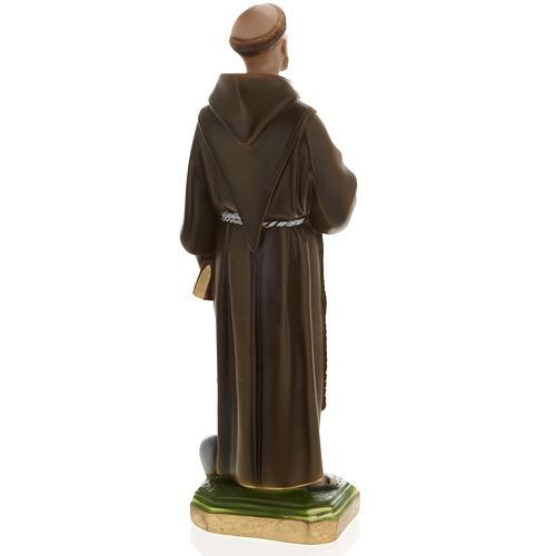 Saint François de Assisi plâtre 40 cm 6