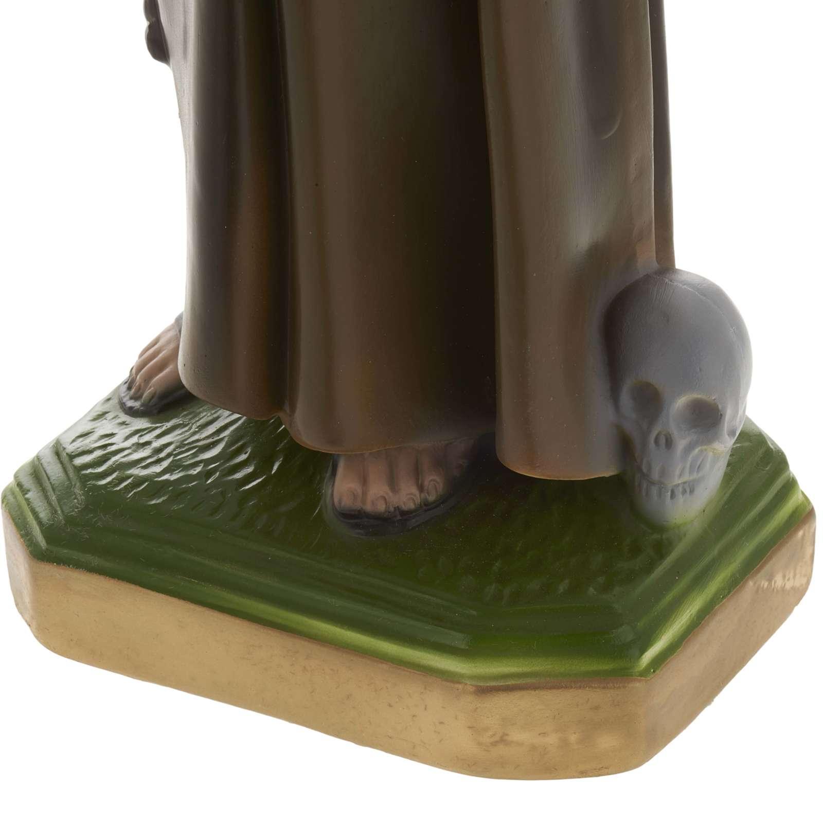 Statua San Francesco d'Assisi 40 cm gesso 4