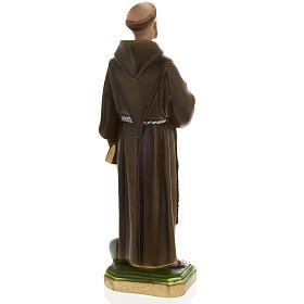 Statua San Francesco d'Assisi 40 cm gesso s6