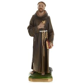 Saint Francis of Assisi plaster statue,  40 cm s1