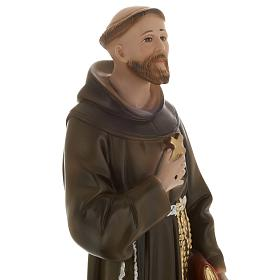 Saint Francis of Assisi plaster statue,  40 cm s2