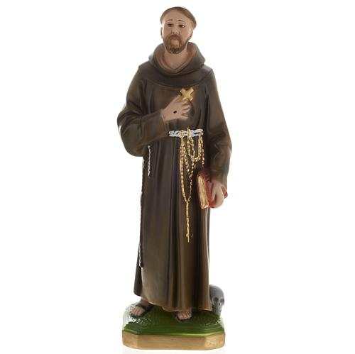 Saint Francis of Assisi plaster statue,  40 cm 1