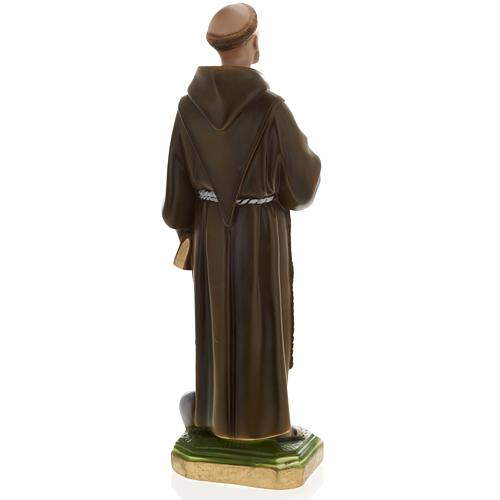 Saint Francis of Assisi plaster statue,  40 cm 6