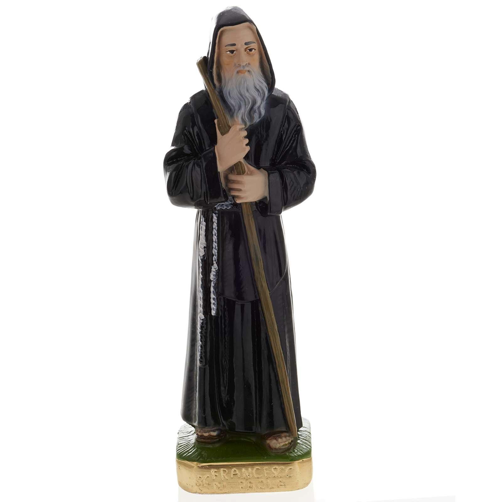 Statua San Francesco di Paola gesso 20 cm 4