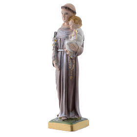 Statua Sant'Antonio da Padova gesso madreperlato 20 cm s2