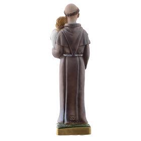 Statua Sant'Antonio da Padova gesso madreperlato 20 cm s4