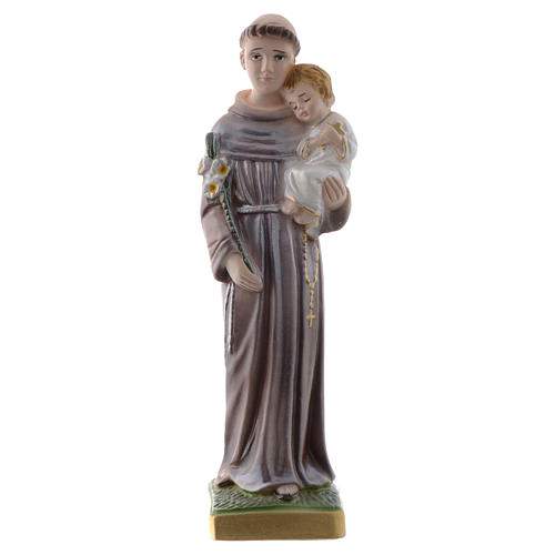 Saint Anthony of Padua statue in pearlized plaster, 20 cm 1