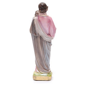 Statua San Giuseppe con bambino gesso madreperlato 20 cm s2