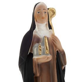 Estatua St. Brigit of Kildare 20 cm. yeso s2