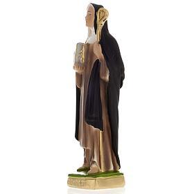Estatua St. Brigit of Kildare 20 cm. yeso s3