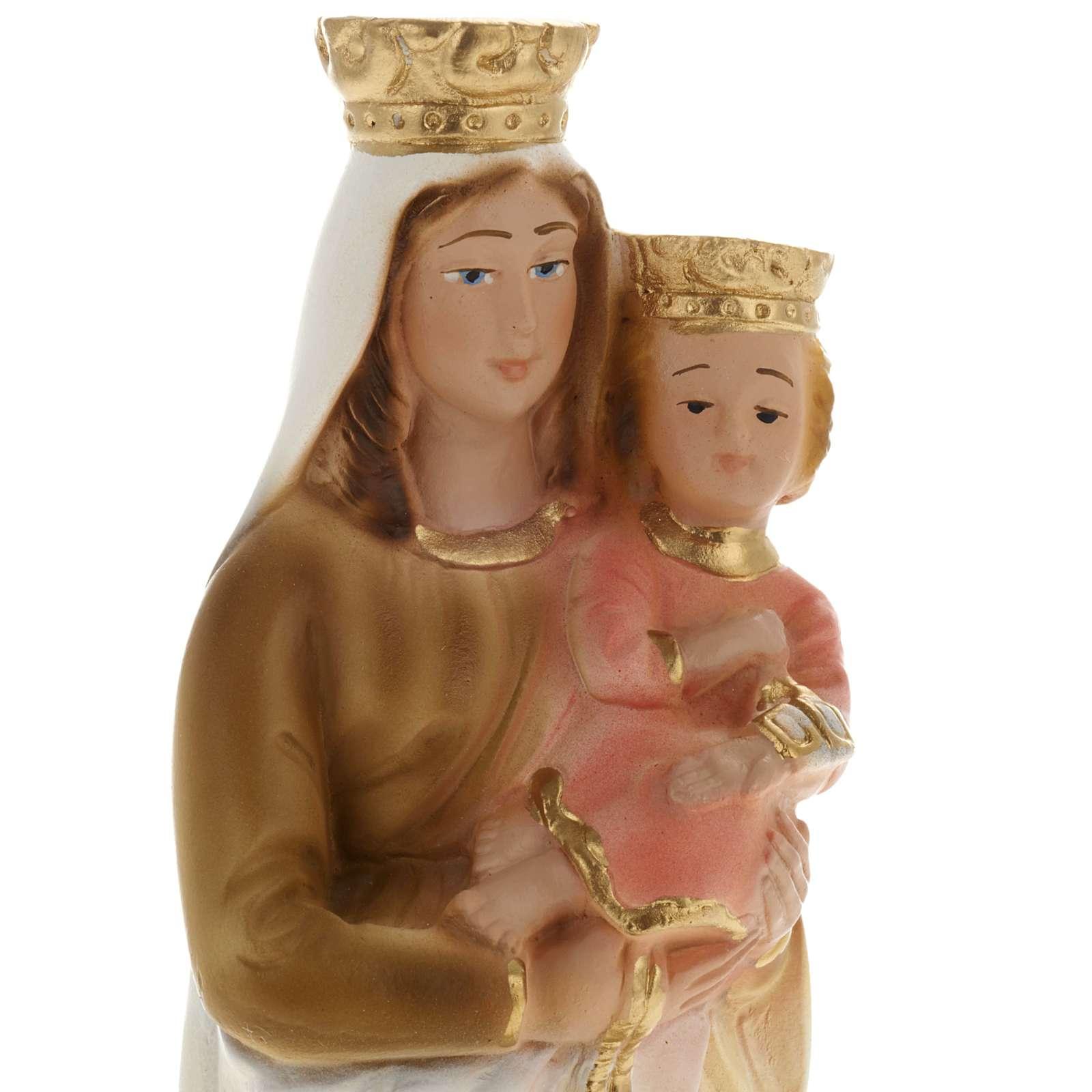Statua Madonna del Carmelo gesso 20 cm 4