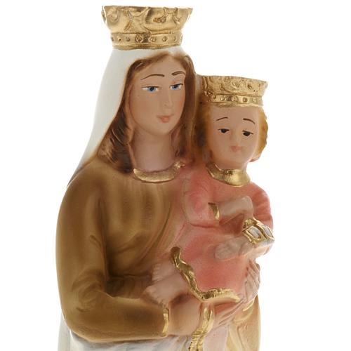 Statua Madonna del Carmelo gesso 20 cm 2
