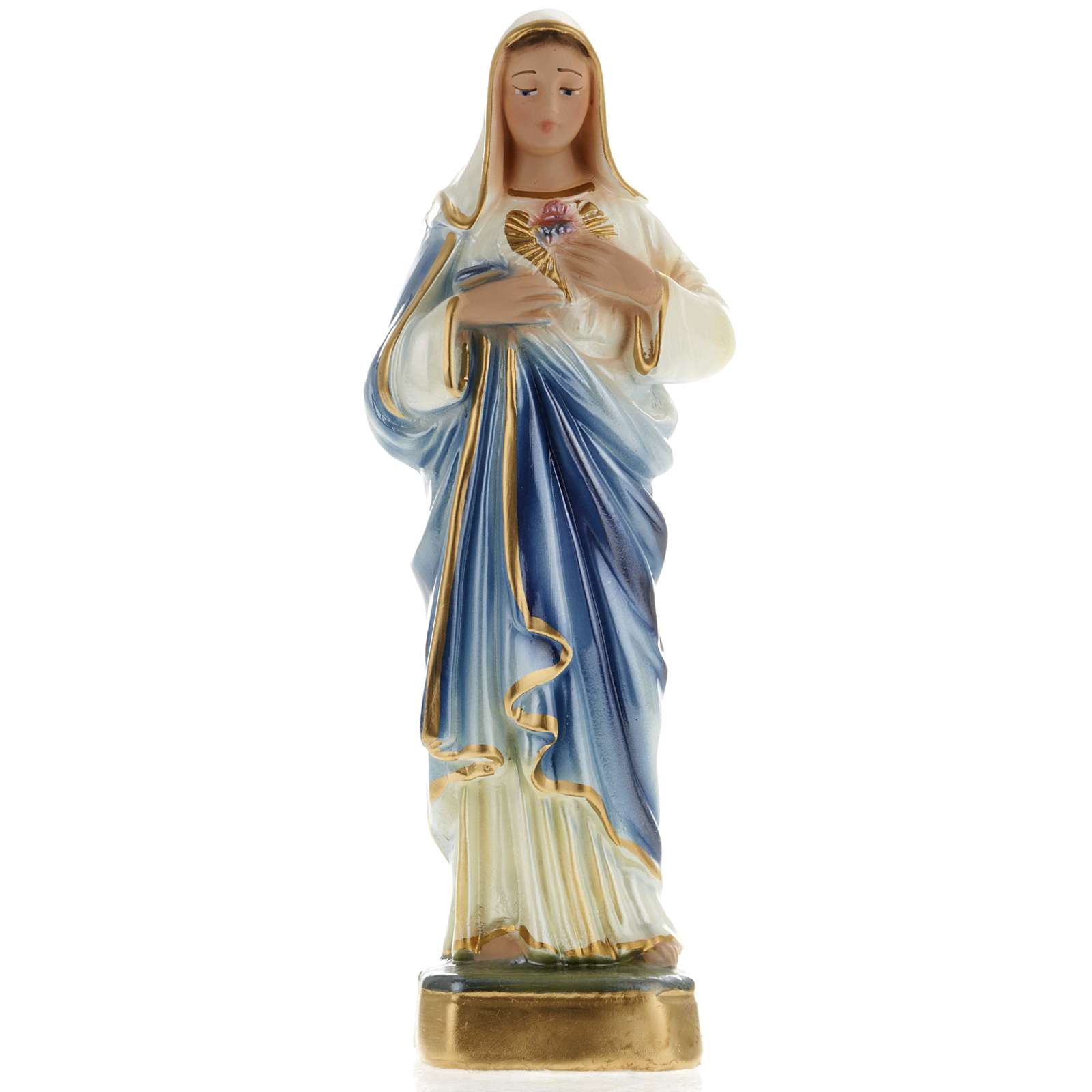 Holy Heart of Mary statue in plaster, 20 cm 4