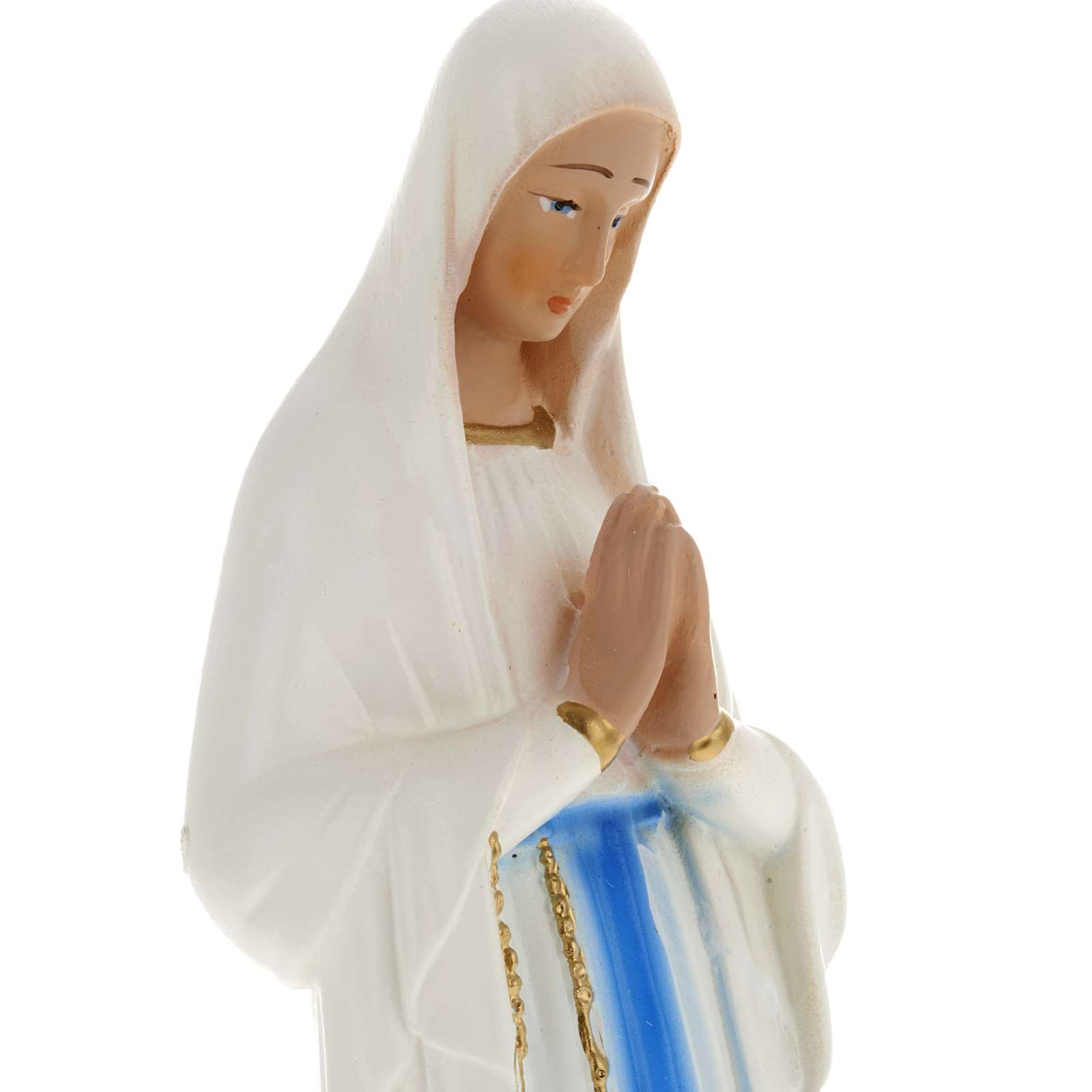 Our Lady of Banneux statue in plaster, 20 cm 4