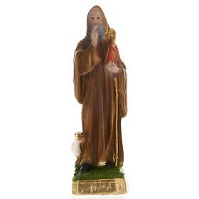 Statua San Benedetto gesso 20 cm s1