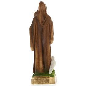 Statua San Benedetto gesso 20 cm s4