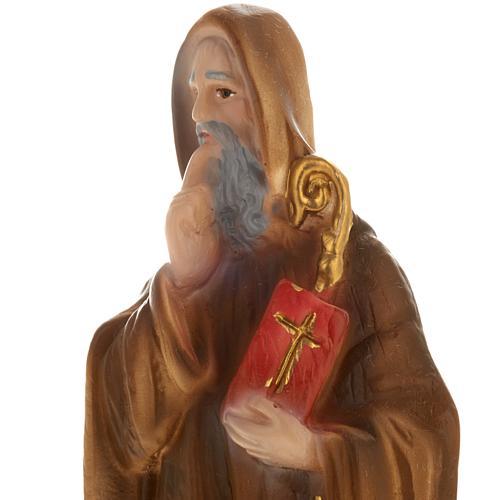 Statua San Benedetto gesso 20 cm 2
