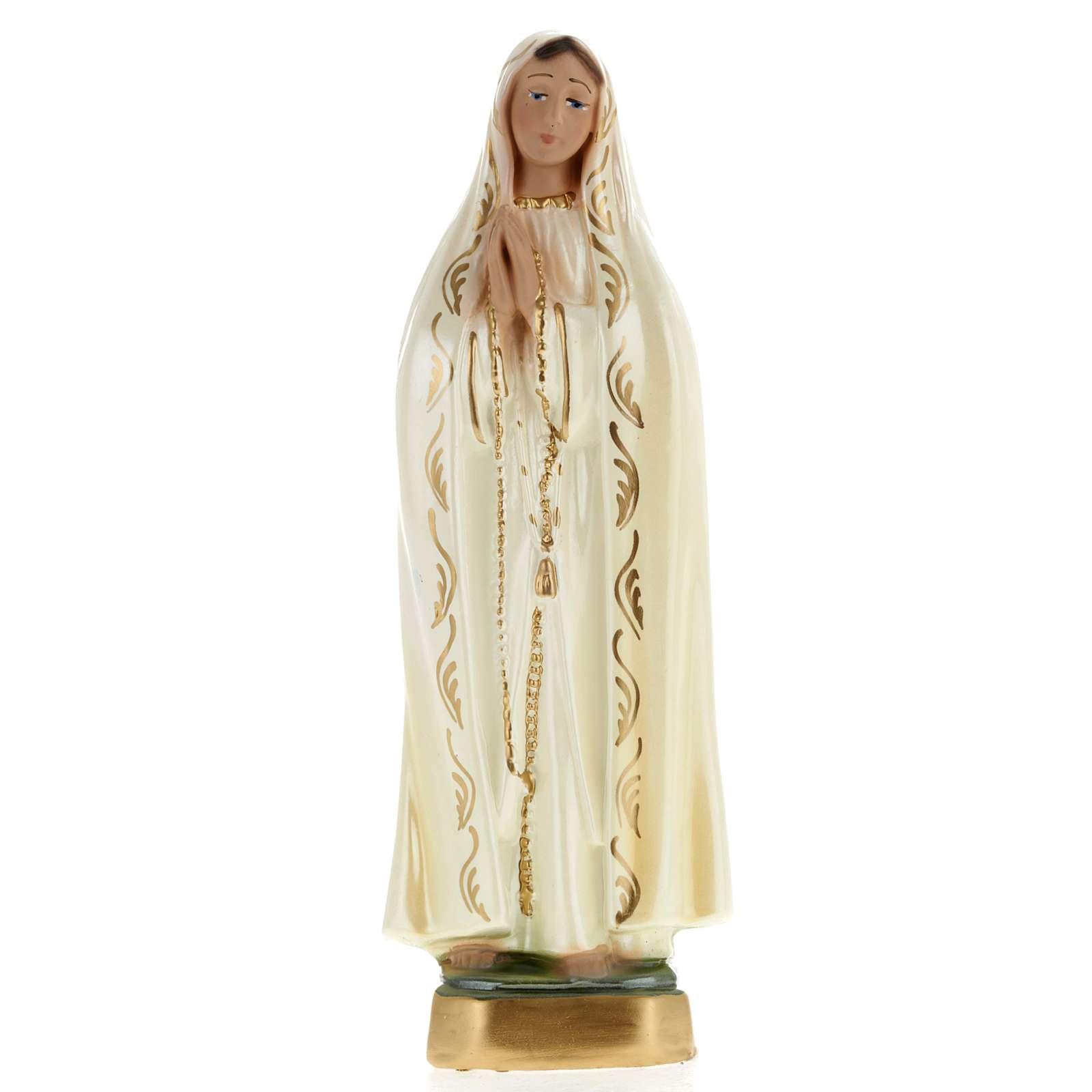 Statua Madonna di Fatima gesso 20 cm 4
