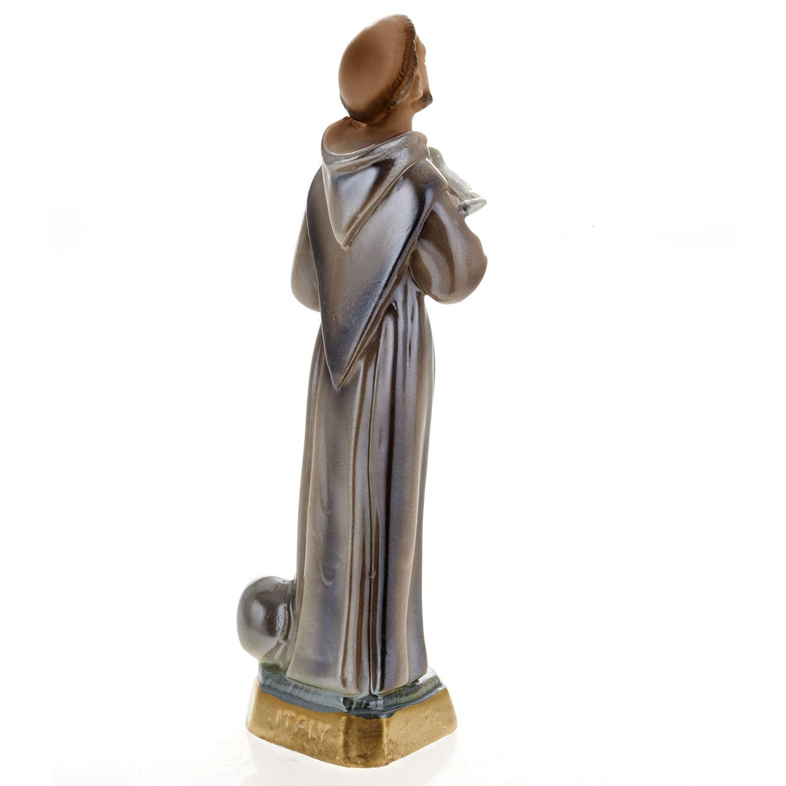 Statua San Francesco d'Assisi gesso 20 cm 4