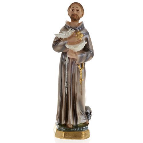 Statua San Francesco d'Assisi gesso 20 cm 1