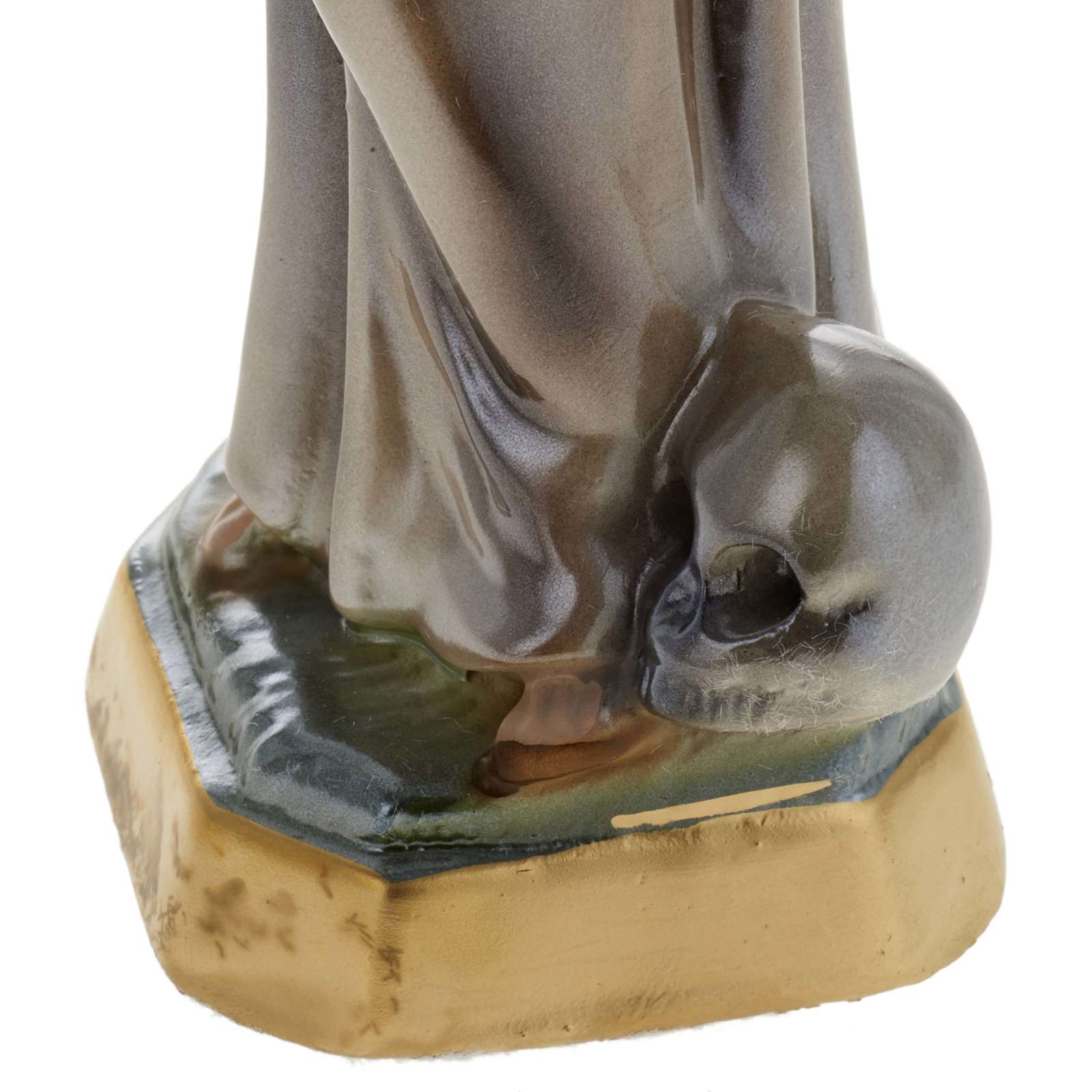 Saint Francis of Assisi statue in plaster, 20 cm 4