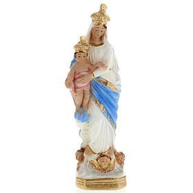 Statua Notre Dame des Victoires gesso 20 cm s1