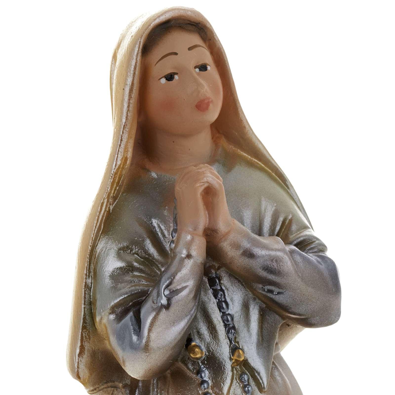 Statua S. Bernadette gesso madreperlato 20 cm 4