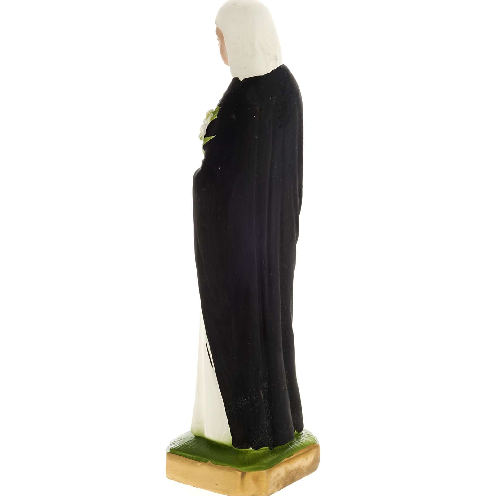 Saint Catherine statue in plaster, 20 cm 4