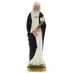 Saint Catherine statue in plaster, 20 cm s1