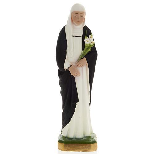 Saint Catherine statue in plaster, 20 cm 1