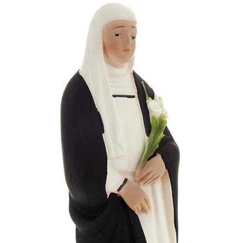 Saint Catherine statue in plaster, 20 cm 2