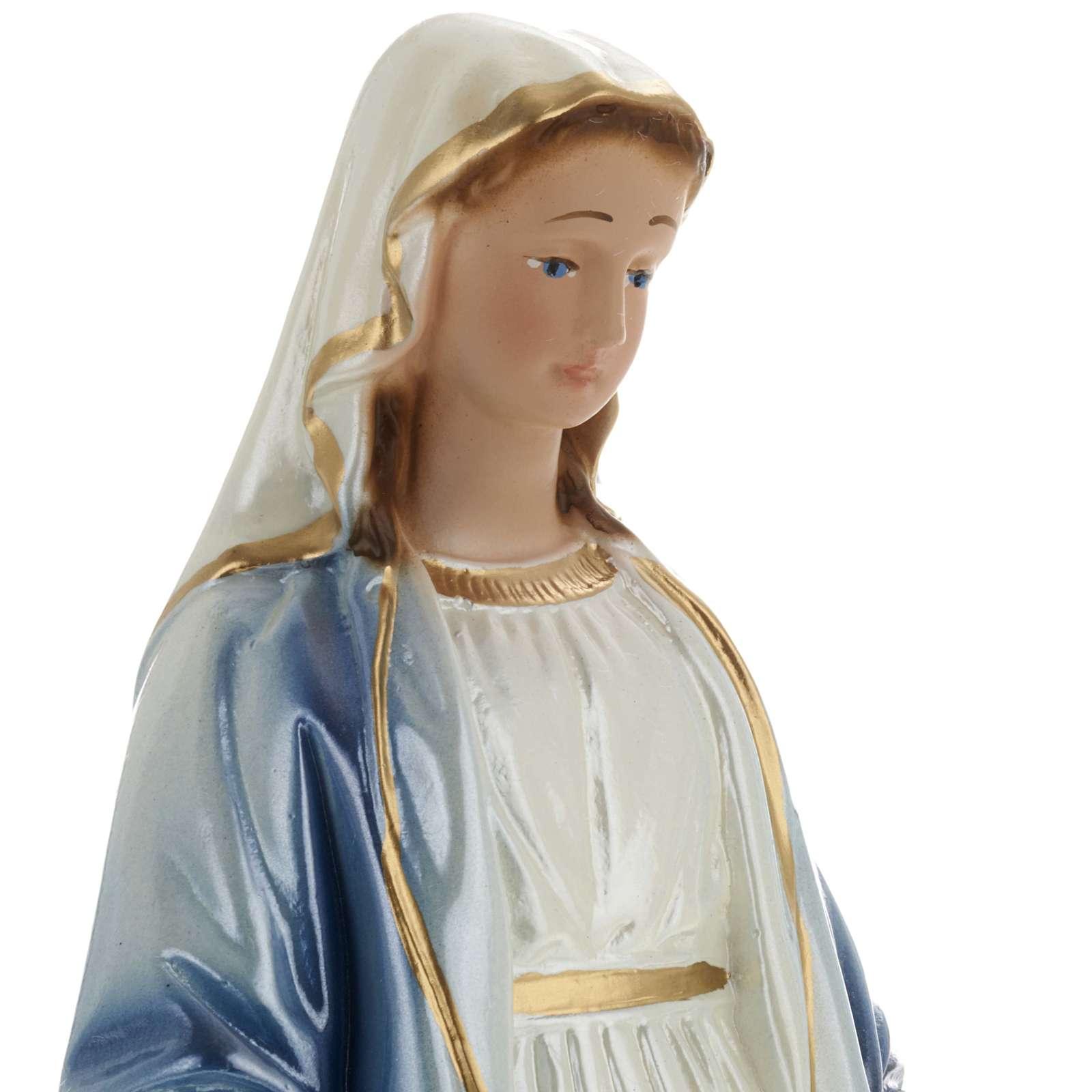Statua Madonna Miracolosa gesso madreperlato 20 cm 4