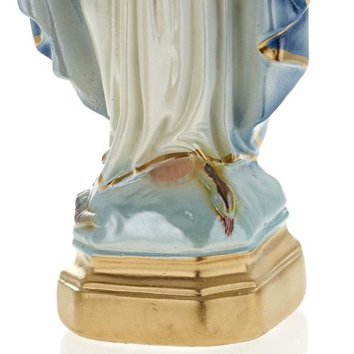 Our Lady of Miracles pearlized plaster statue, 20 cm 3