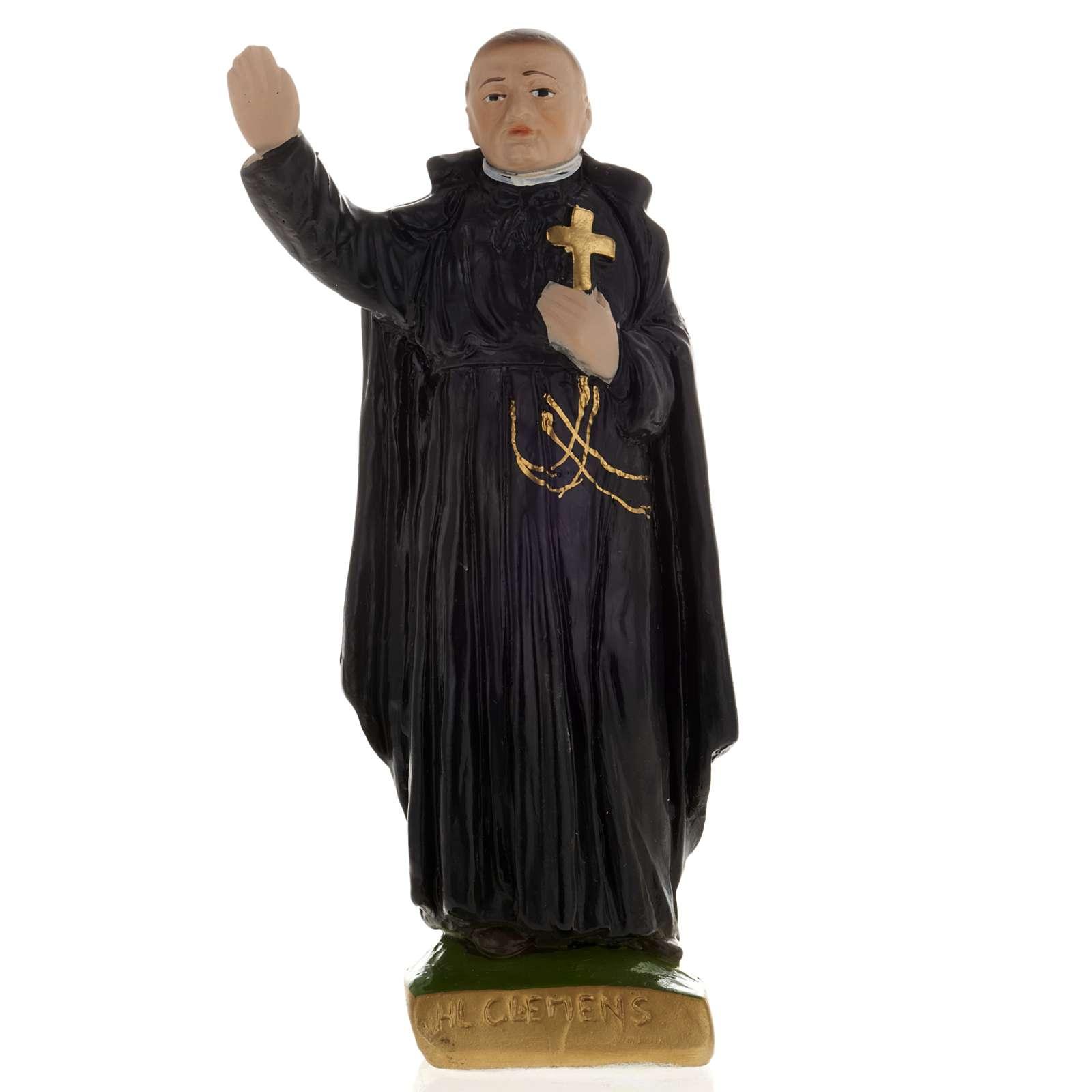 Statua Clemens Maria gesso 20 cm 4