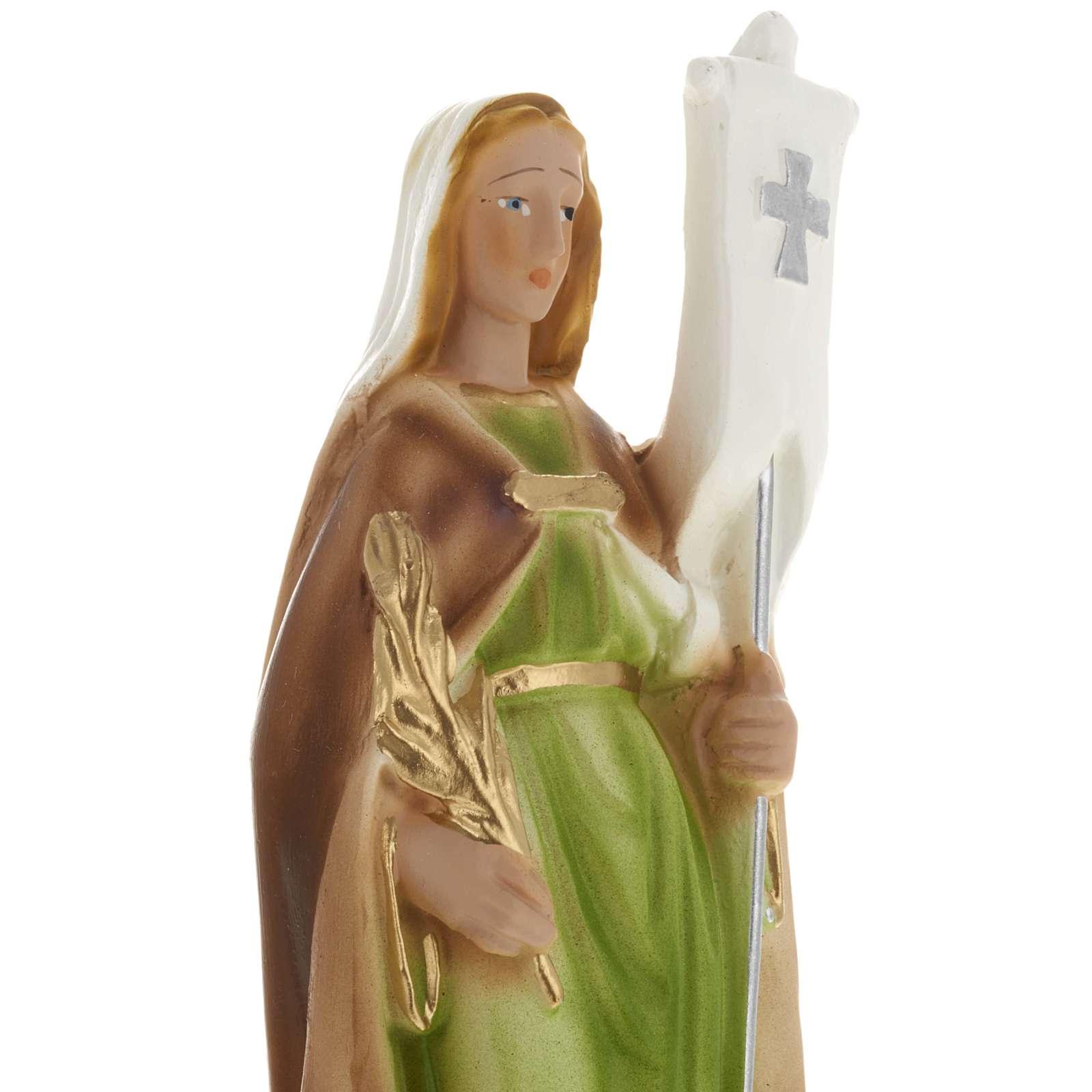 Statua Santa Odilia 20 cm gesso 4