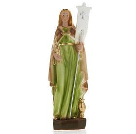 Statua Santa Odilia 20 cm gesso s1