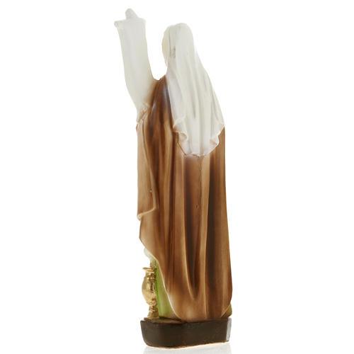 Statua Santa Odilia 20 cm gesso 3