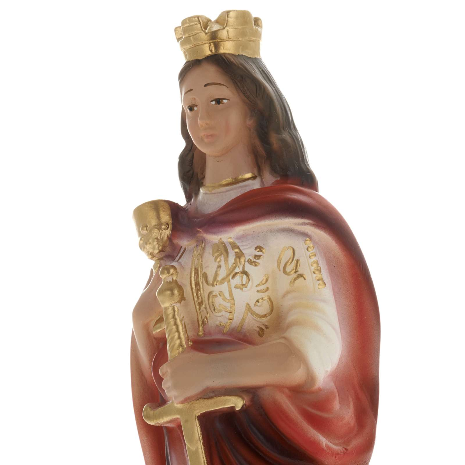 Statua Santa Barbara 20 cm gesso 4