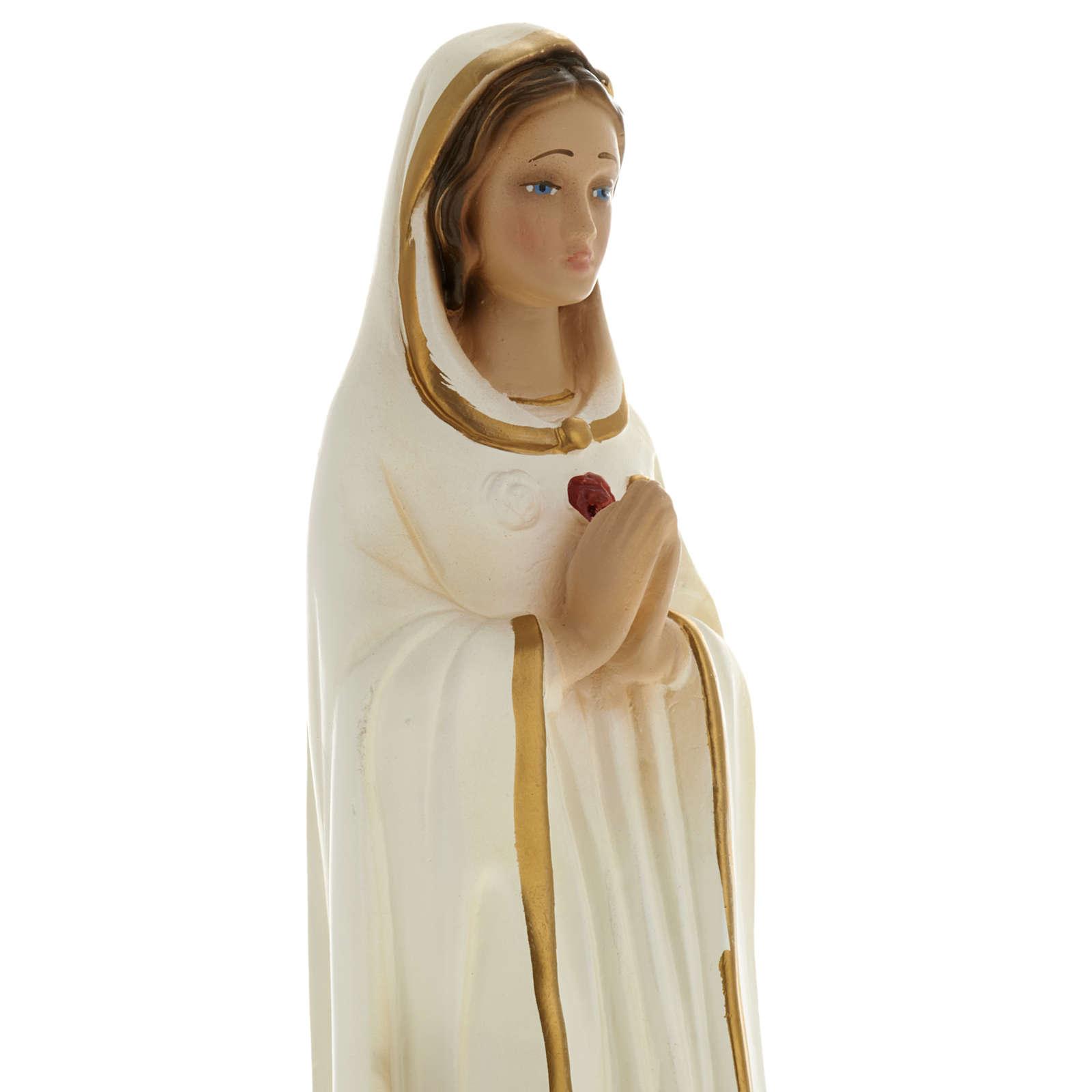 Statua Maria Rosa Mistica 20 cm gesso 4