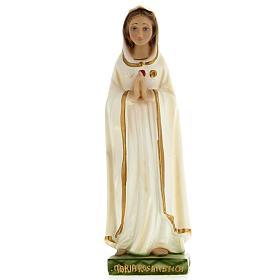 Statua Maria Rosa Mistica 20 cm gesso s1