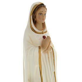 Statua Maria Rosa Mistica 20 cm gesso s2