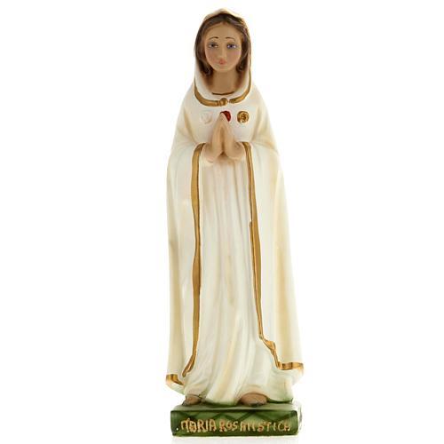 Statua Maria Rosa Mistica 20 cm gesso 1