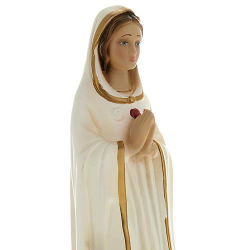 Statua Maria Rosa Mistica 20 cm gesso 2