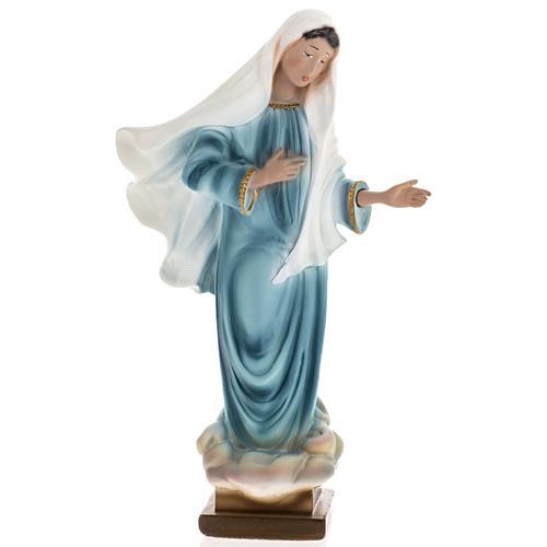 Statua Madonna Medjugorje gesso 25 cm 1