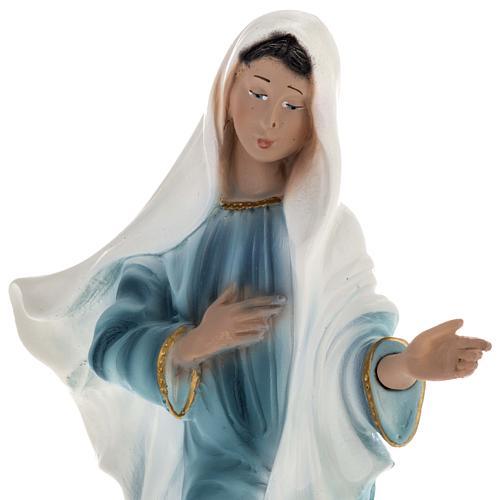 Statua Madonna Medjugorje gesso 25 cm 2