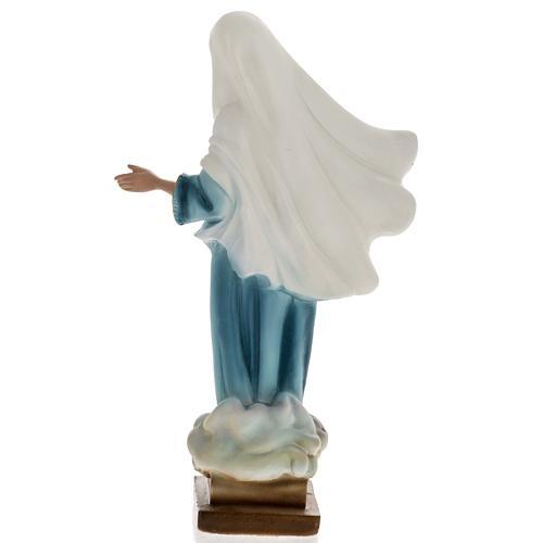 Statua Madonna Medjugorje gesso 25 cm 4