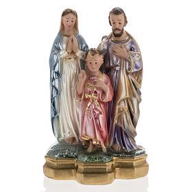 Statua Sacra Famiglia 25 cm gesso madreperlato s1