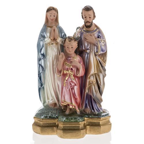 Statua Sacra Famiglia 25 cm gesso madreperlato 1