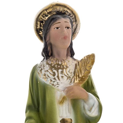 Saints Cosmas and Damian statue in plaster, 20 cm 3