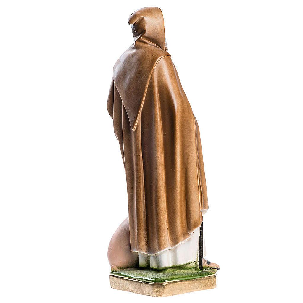 Statua Sant'Antonio Abate 40 cm gesso madreperlato 4